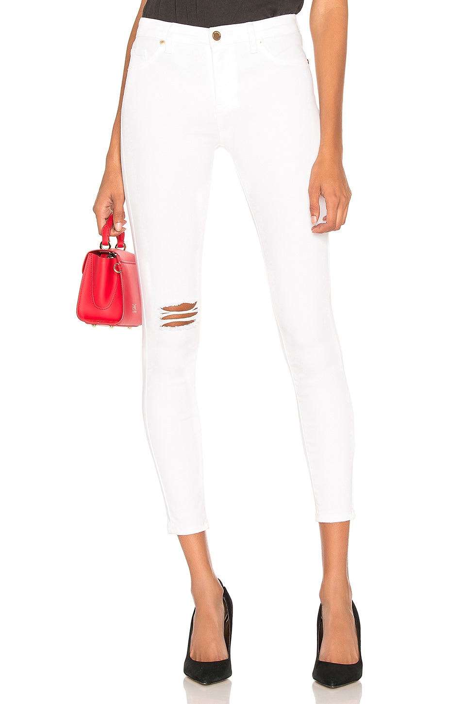 BLANKNYC Hi Rise Skinny Jean in Great White