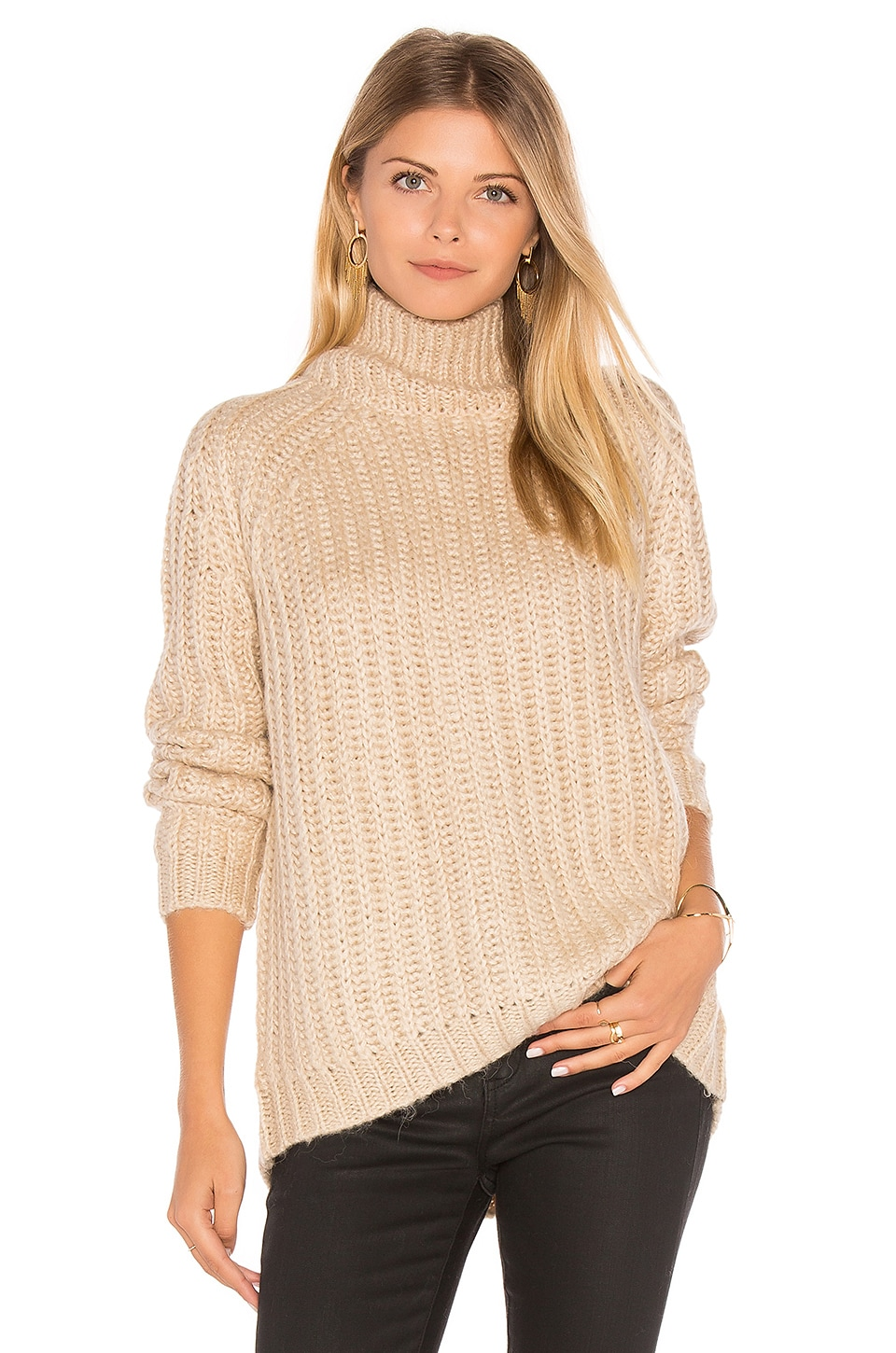 BLANKNYC Turtleneck Sweater in Afternoon Delight