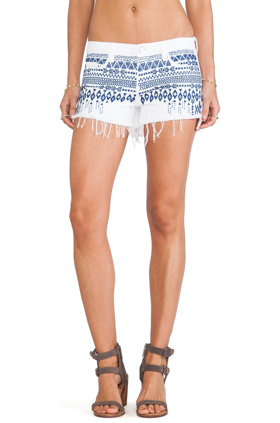 BLANKNYC Embroidered Shorts in Baby Back