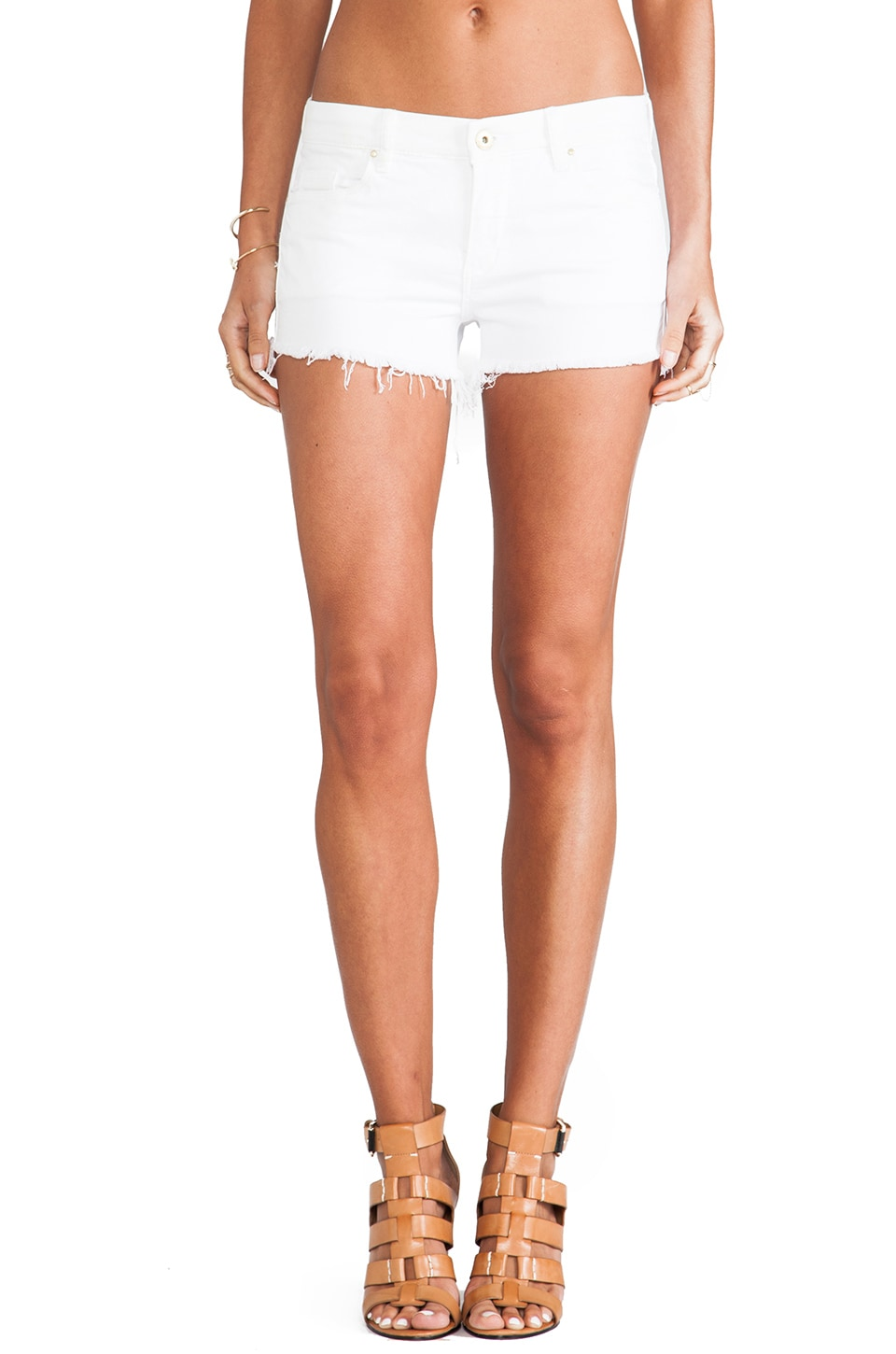 BLANKNYC Cut Off Short in White Lines