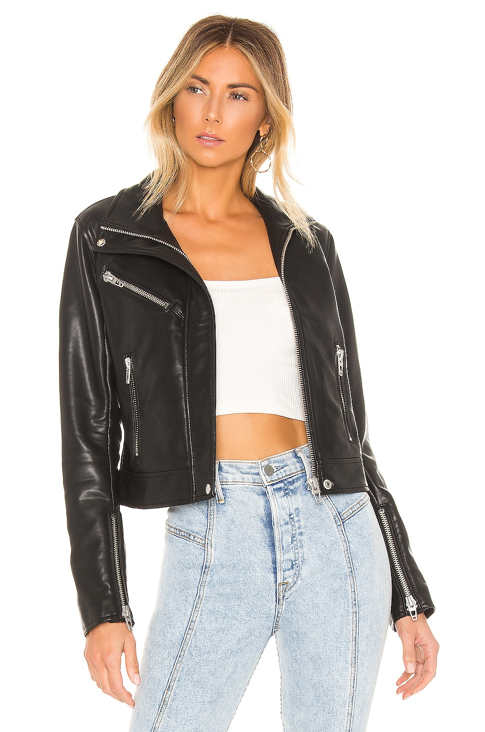 BLANKNYC Essentials Faux Leather Jacket in Essentials