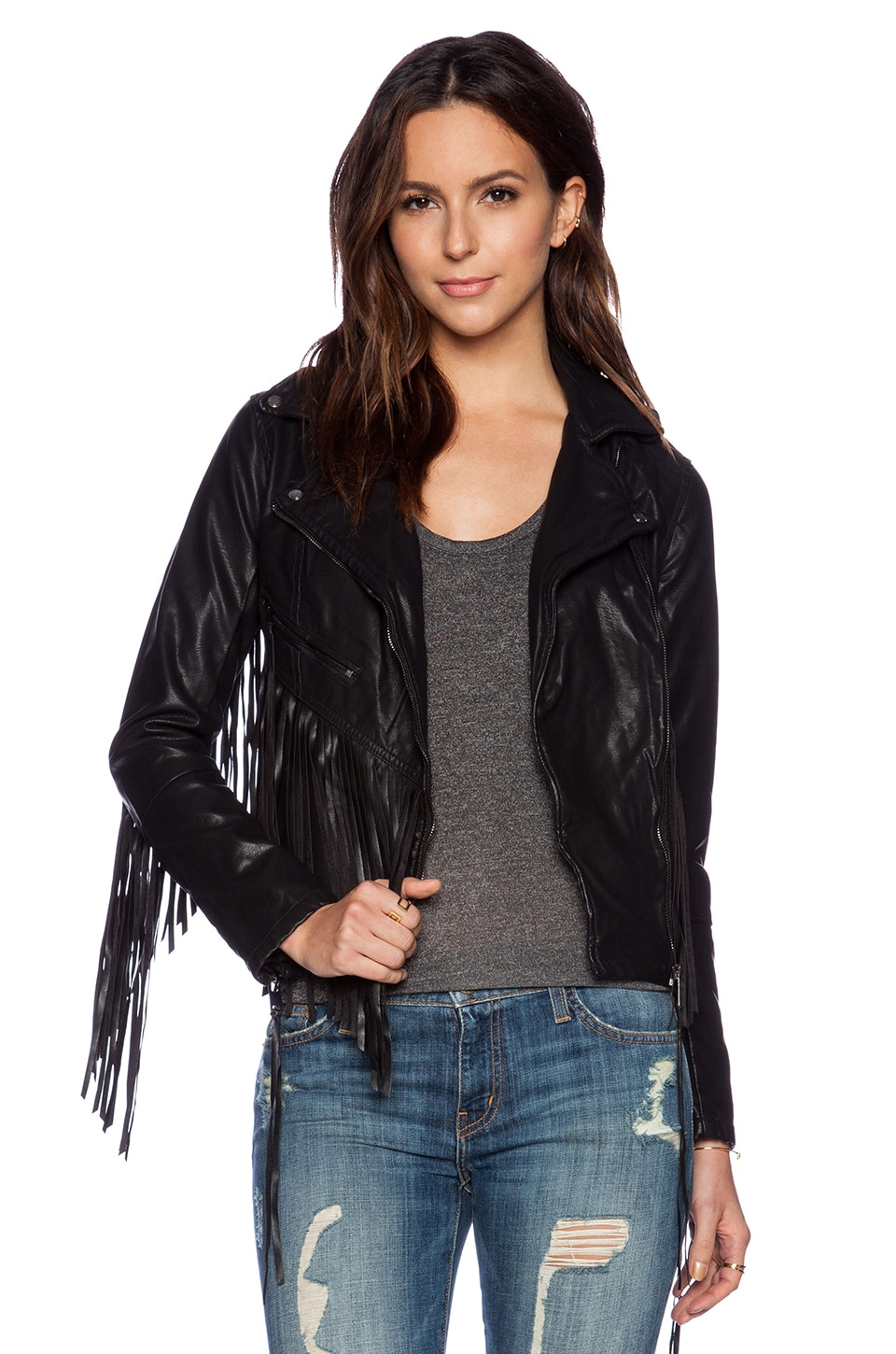 BLANKNYC Fringe Moto Jacket in Let it Ride