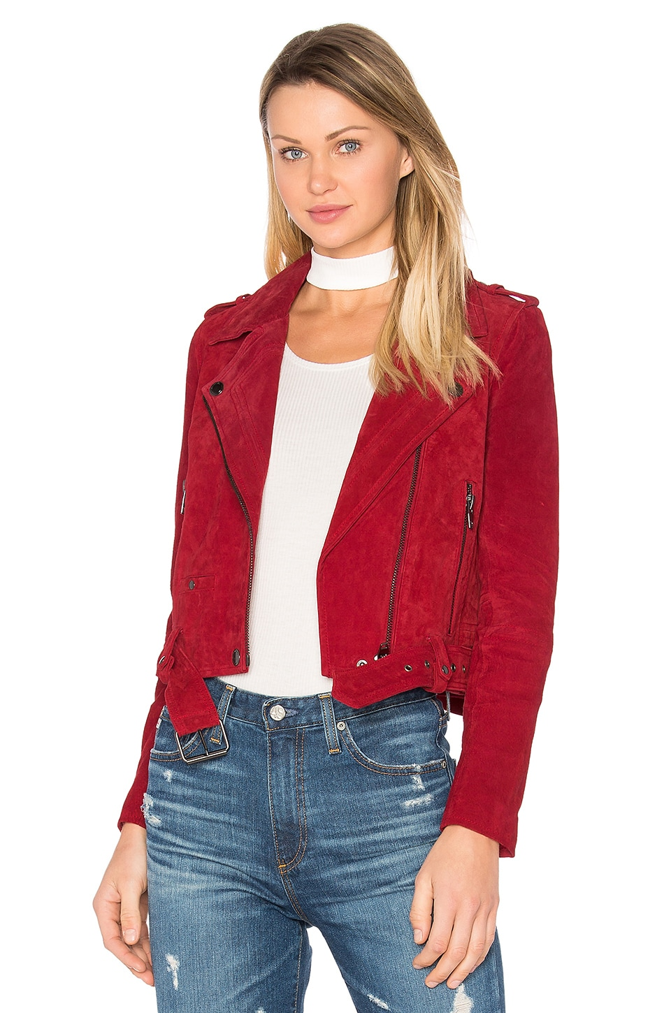 BLANKNYC Moto Jacket in Red Moon