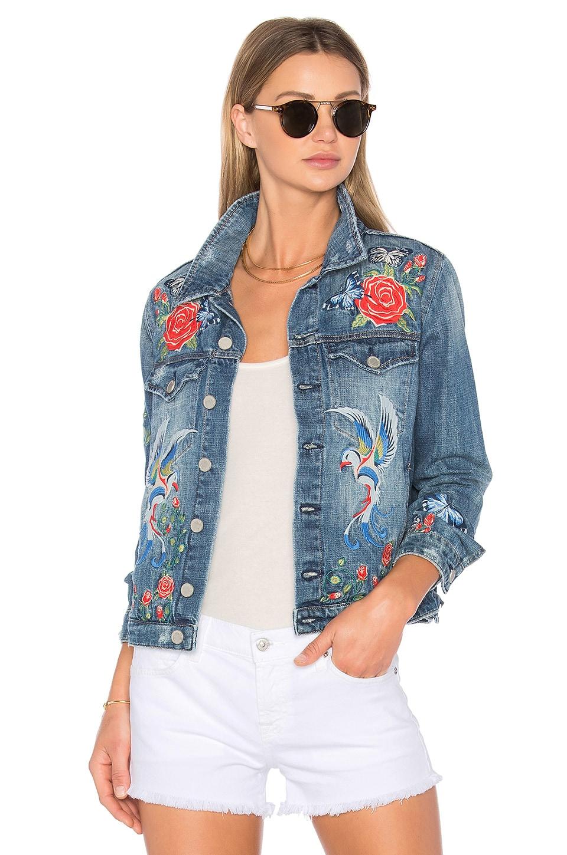 Embroidered Denim Jacket by BLANKNYC