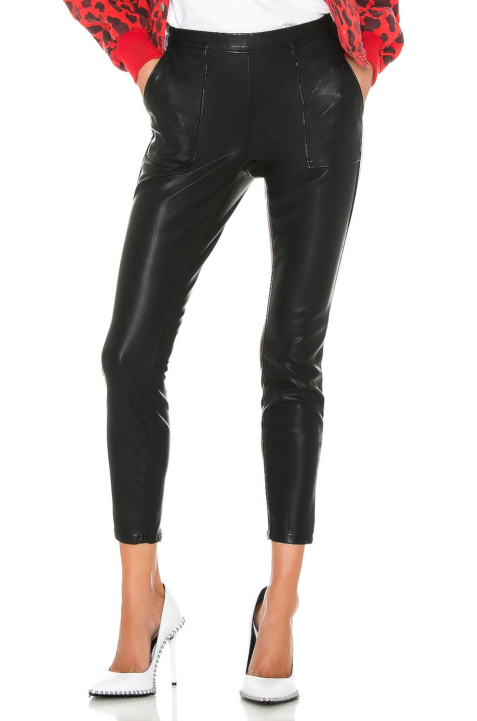 BLANKNYC Carbon Vegan Leather Pant in Carbon