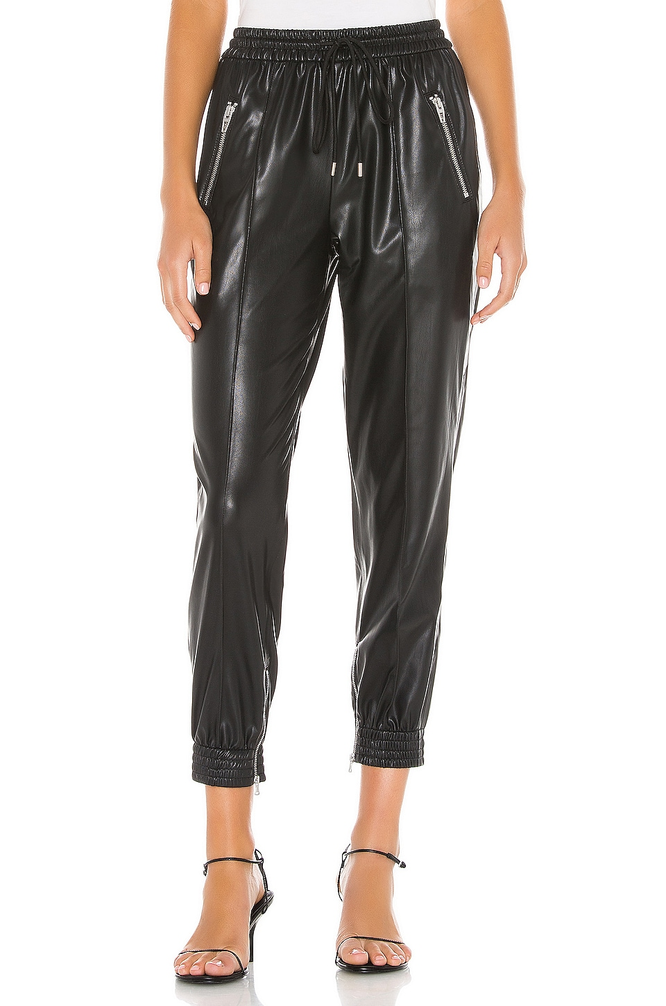 BLANKNYC Running Wild Faux Leather Jogger in Running Wild