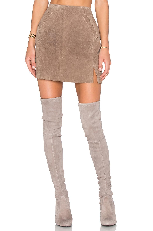 BLANKNYC Suede Skirt in Midnight Toker