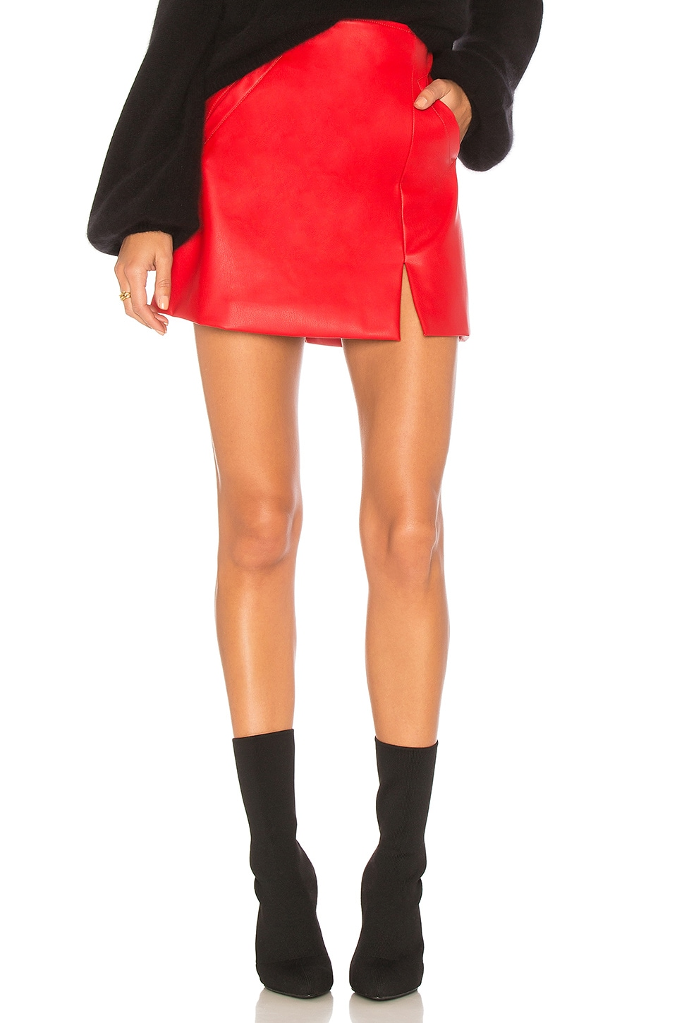 BLANKNYC Old Flame Skirt in Red