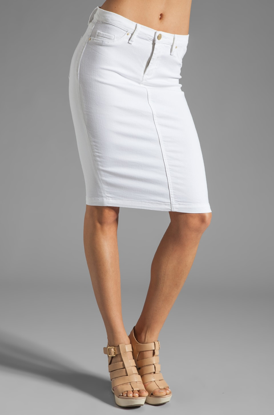 BLANKNYC Pencil Skirt in White Lines