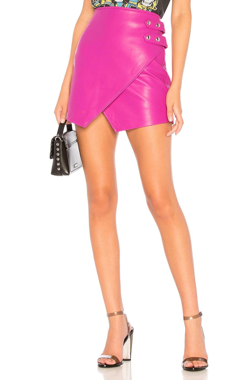 BLANKNYC Overlap Vegan Leather Skirt in Girls Night Out
