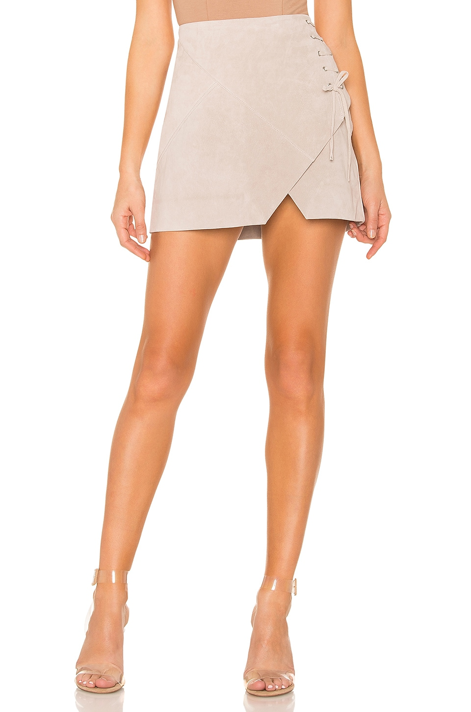 BLANKNYC Suede A Line Skirt in Fawn