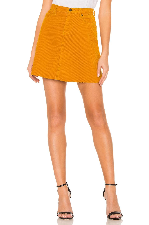BLANKNYC High Rise Corduroy Skirt in Marigold
