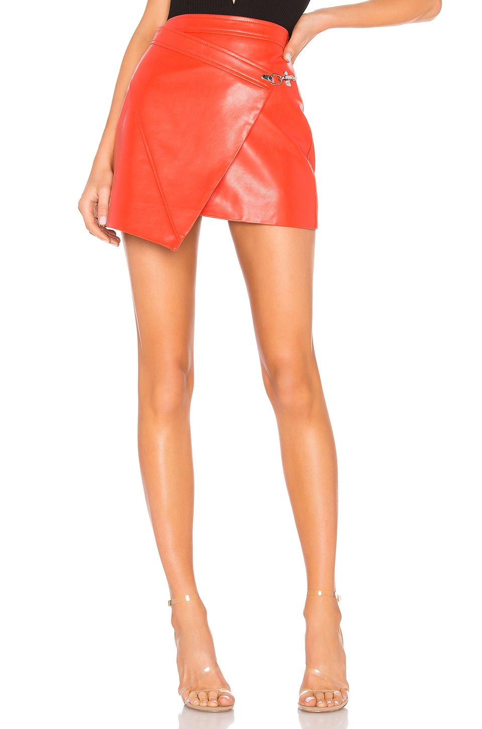 BLANKNYC Faux Leather Wrap Skirt in Safe Word