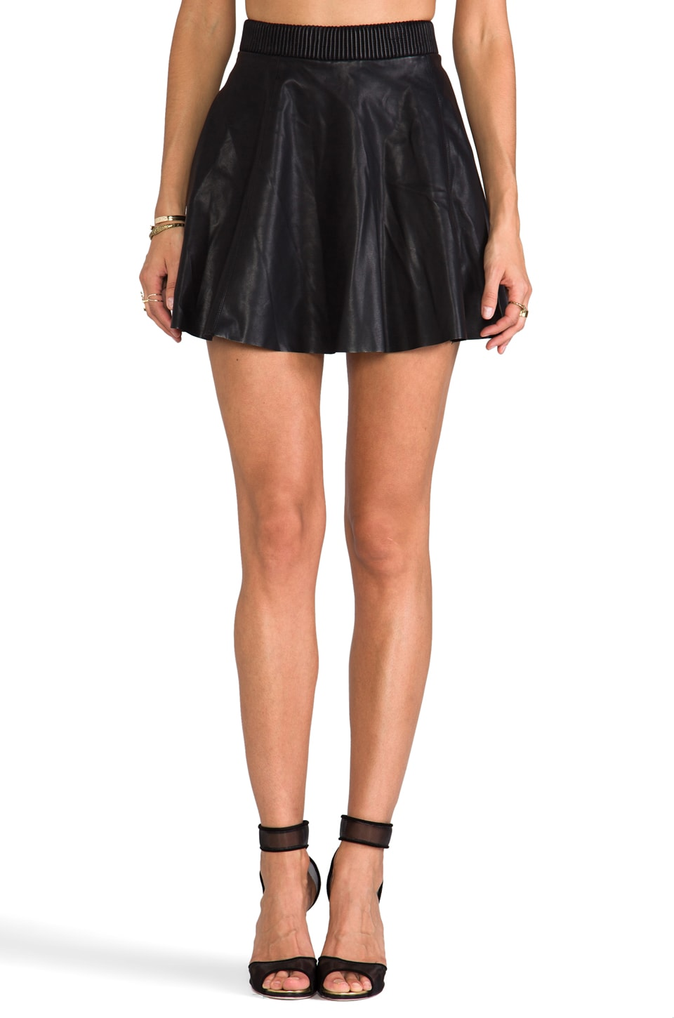 BLANKNYC Faux Leather Skirt in Pussy Cat
