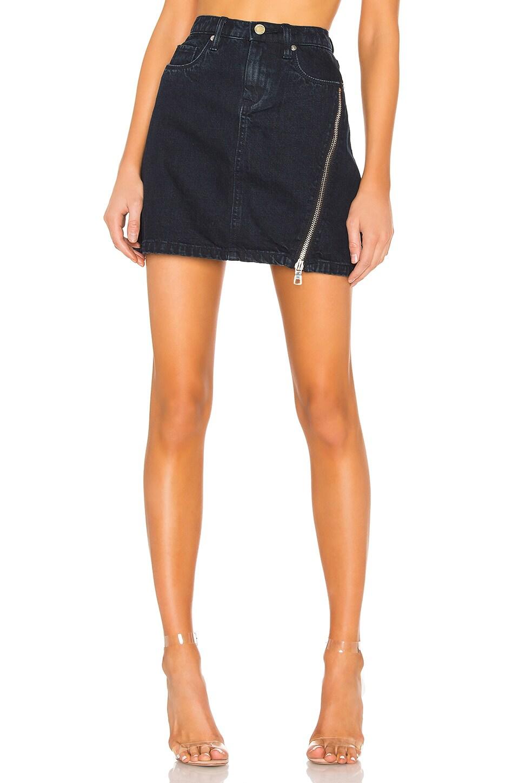 BLANKNYC Zipper A-Line Skirt in Mercury Rising