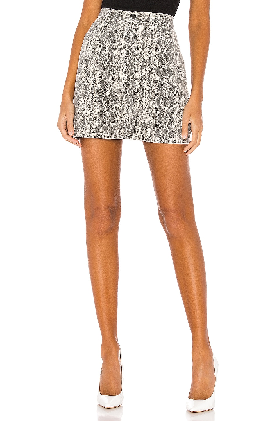 BLANKNYC A-Line High Rise Skirt in Snake Along
