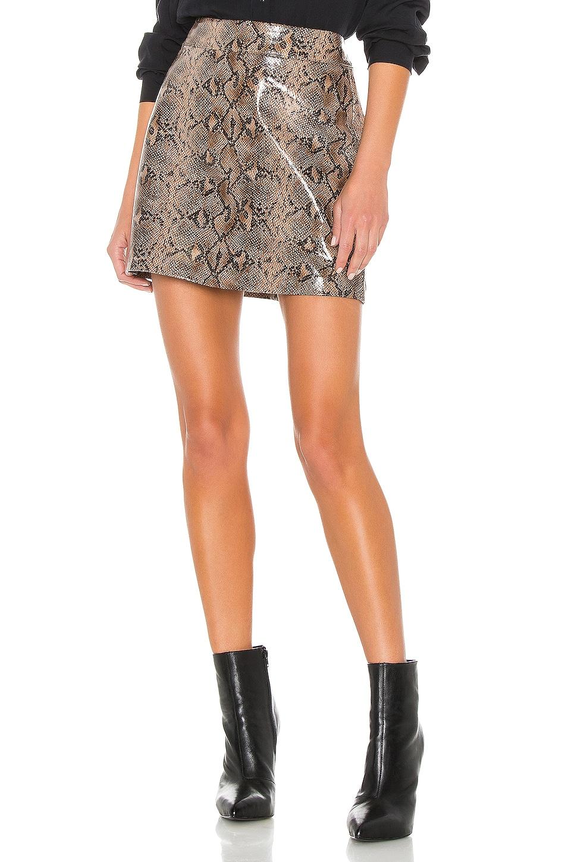 BLANKNYC Anaconduh Vegan Leather Mini Skirt in Anaconduh