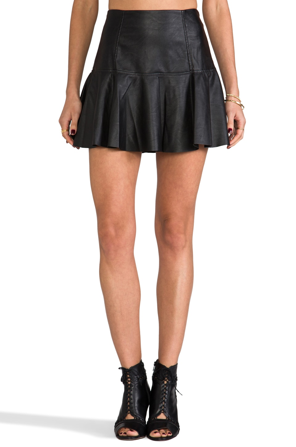 BLANKNYC Leather Skirt in Blacked Out