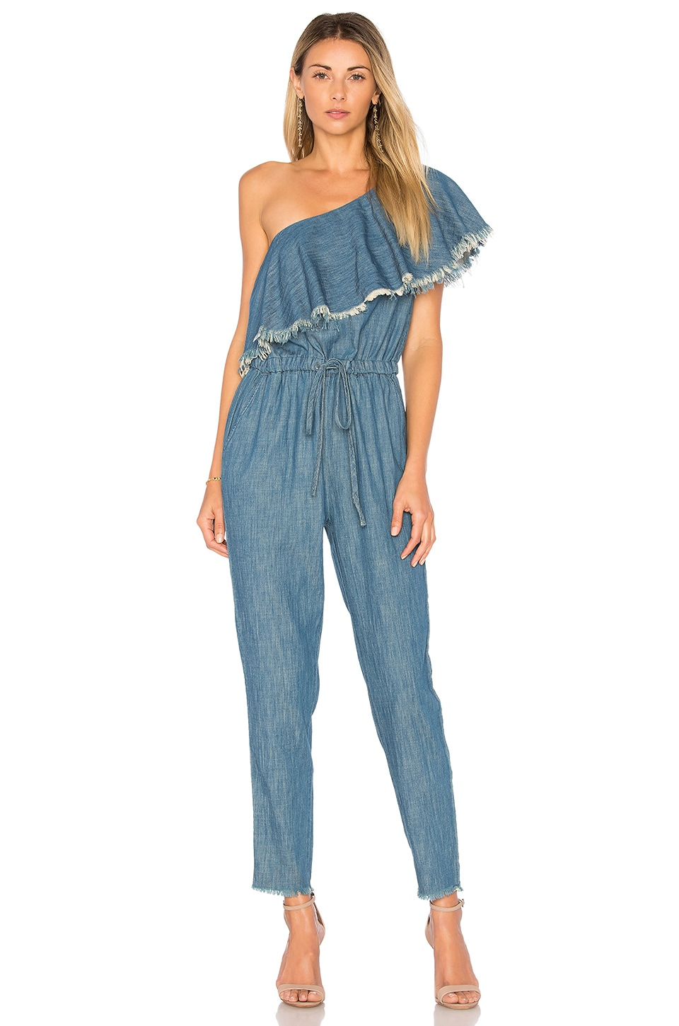 Fray One Shoulder Jumpsuit by BLANKNYC - Fashion Sale ...