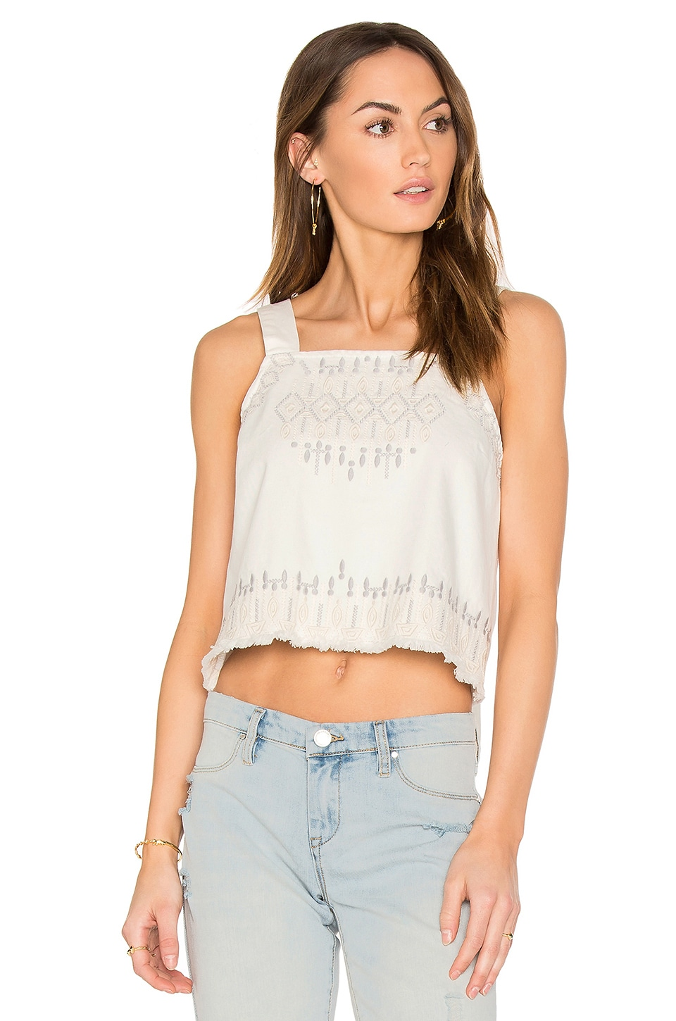 Embroidered Crop Top by BLANKNYC
