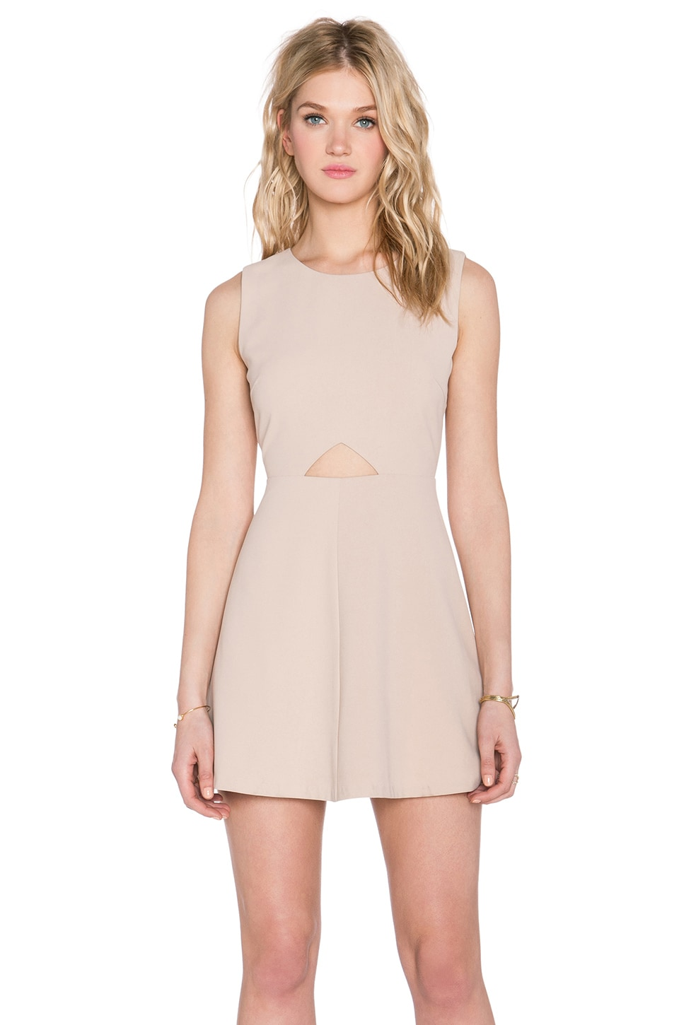 BLAQUE LABEL Cut Out Dress in Nude