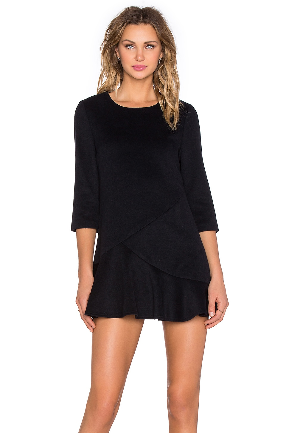 BLAQUE LABEL 3/4 Sleeve Mini Dress in Navy