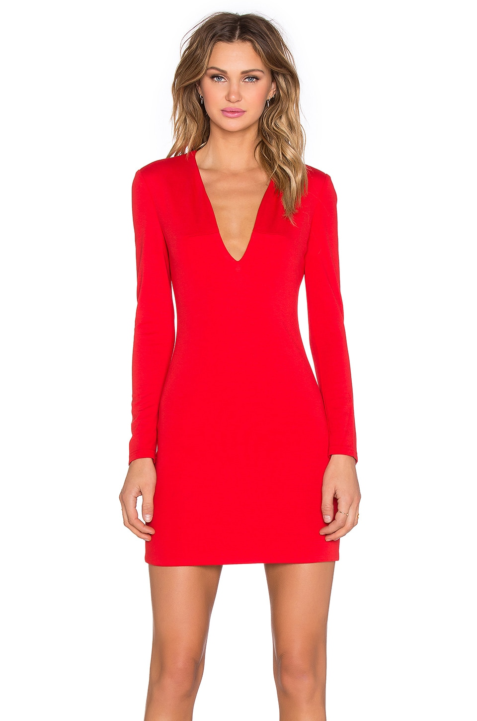 BLAQUE LABEL x REVOLVE Long Sleeve Mini Dress in Red