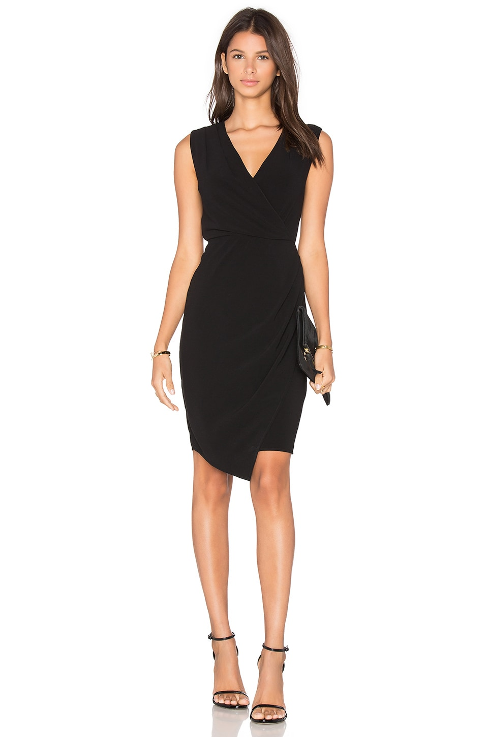BLAQUE LABEL Wrap Dress in Black