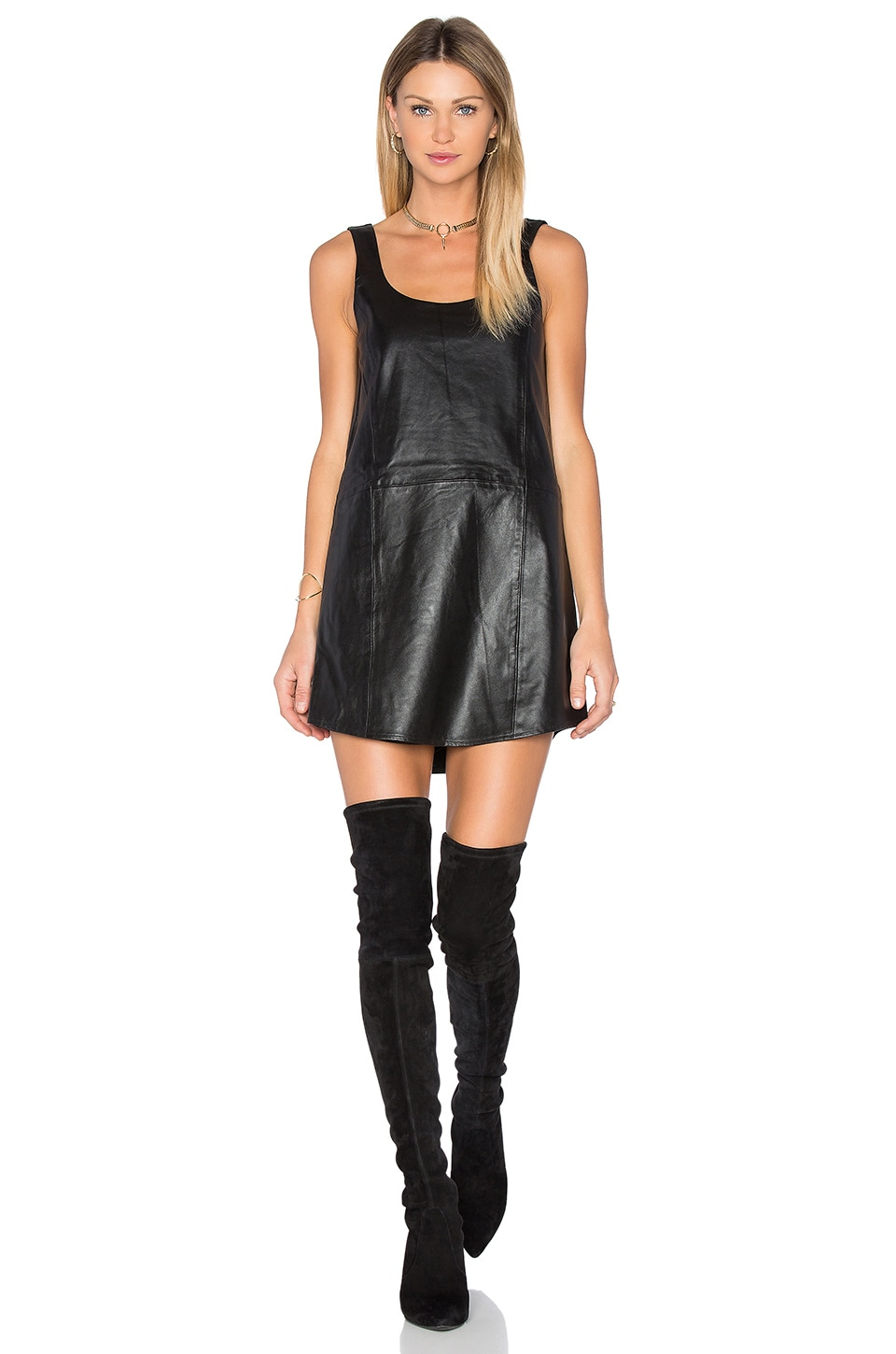 BLAQUE LABEL Leather Tank Dress in Black