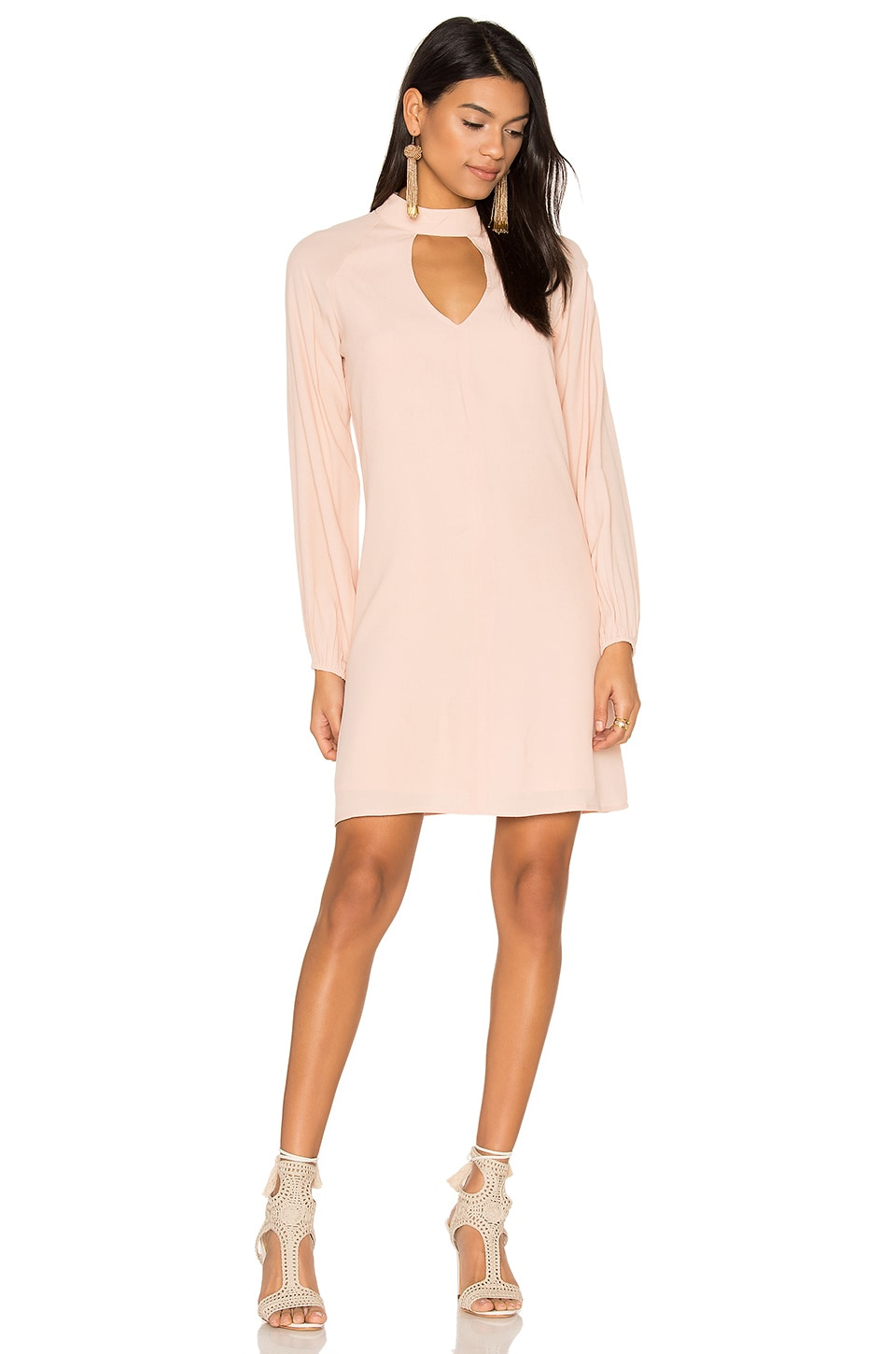 BLAQUE LABEL Keyhole Dress in Blush