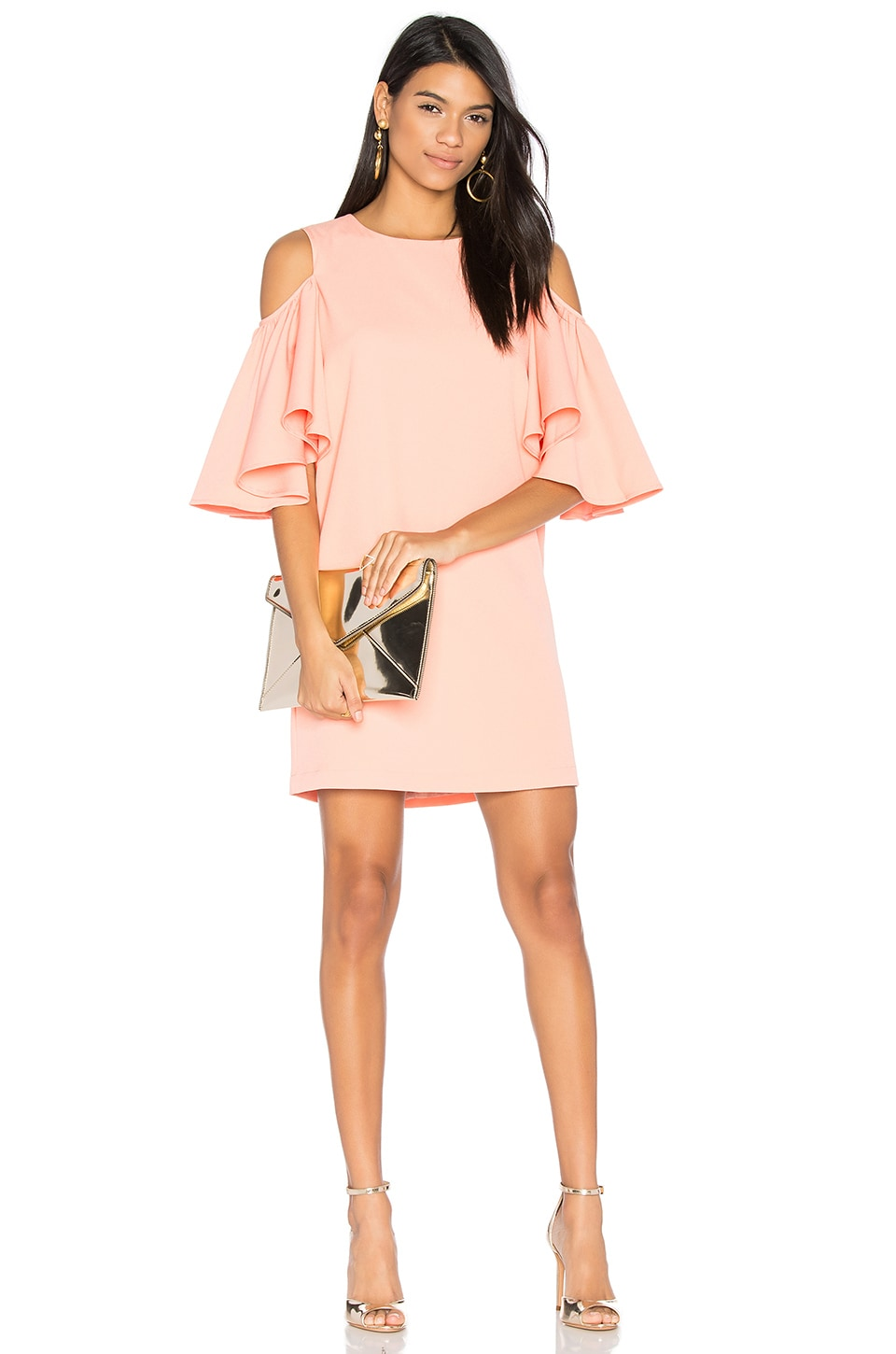 BLAQUE LABEL Cold Shoulder Dress in Rose