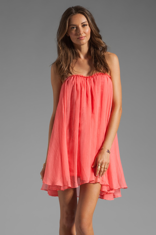 BLAQUE LABEL Short Chiffon Dress in Sugar Coral