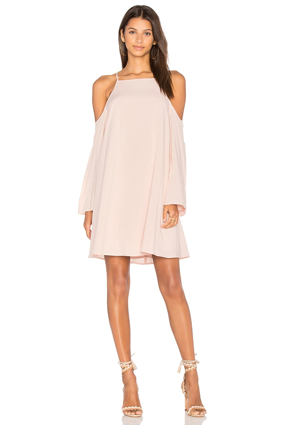 BLAQUE LABEL Exposed Shoulder Dress in Petal Pink