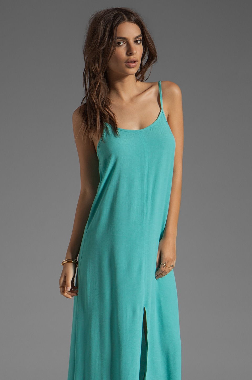BLAQUE LABEL Maxi Tank Dress in Aqua