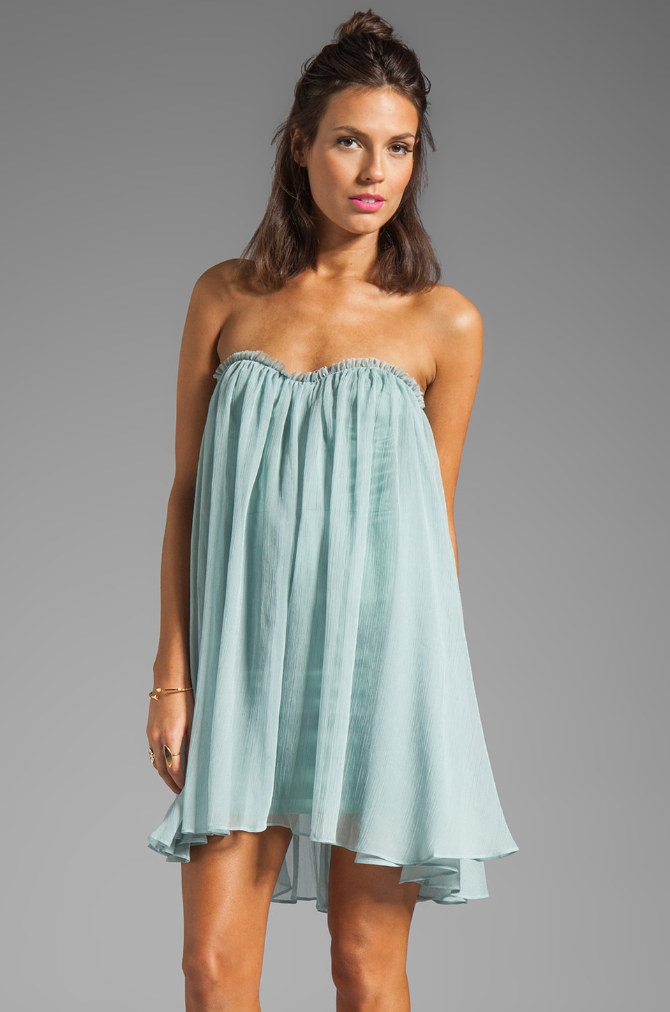 BLAQUE LABEL Strapless Mini Dress in Sky
