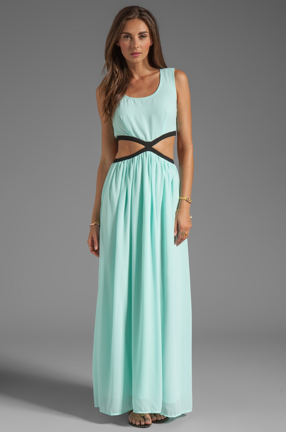 BLAQUE LABEL Cut Out Dress in Aqua