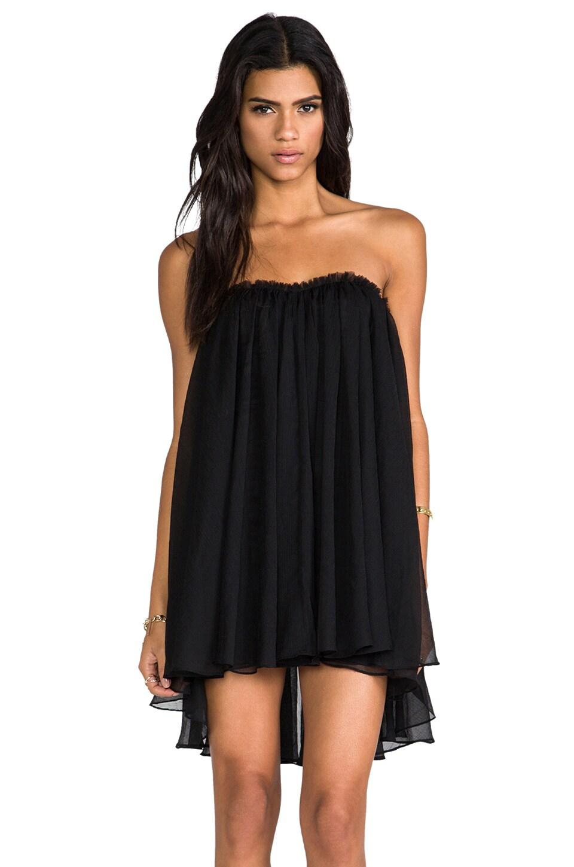 BLAQUE LABEL Strapless Mini Dress in Black