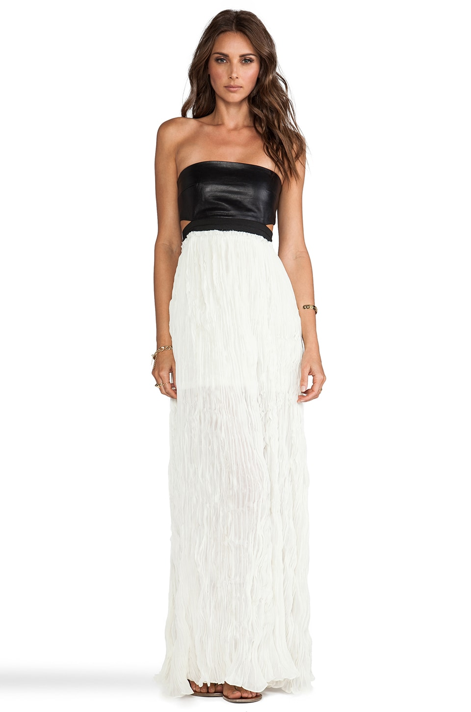 BLAQUE LABEL Strapless Maxi in Cream