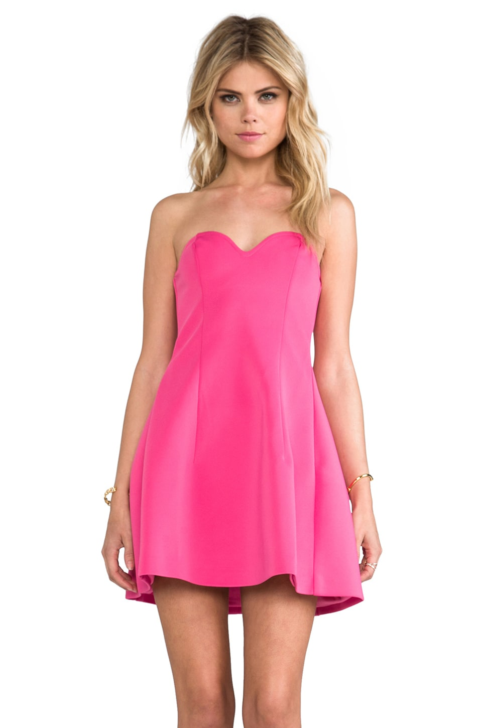 BLAQUE LABEL Strapless Dress in Baby Pink