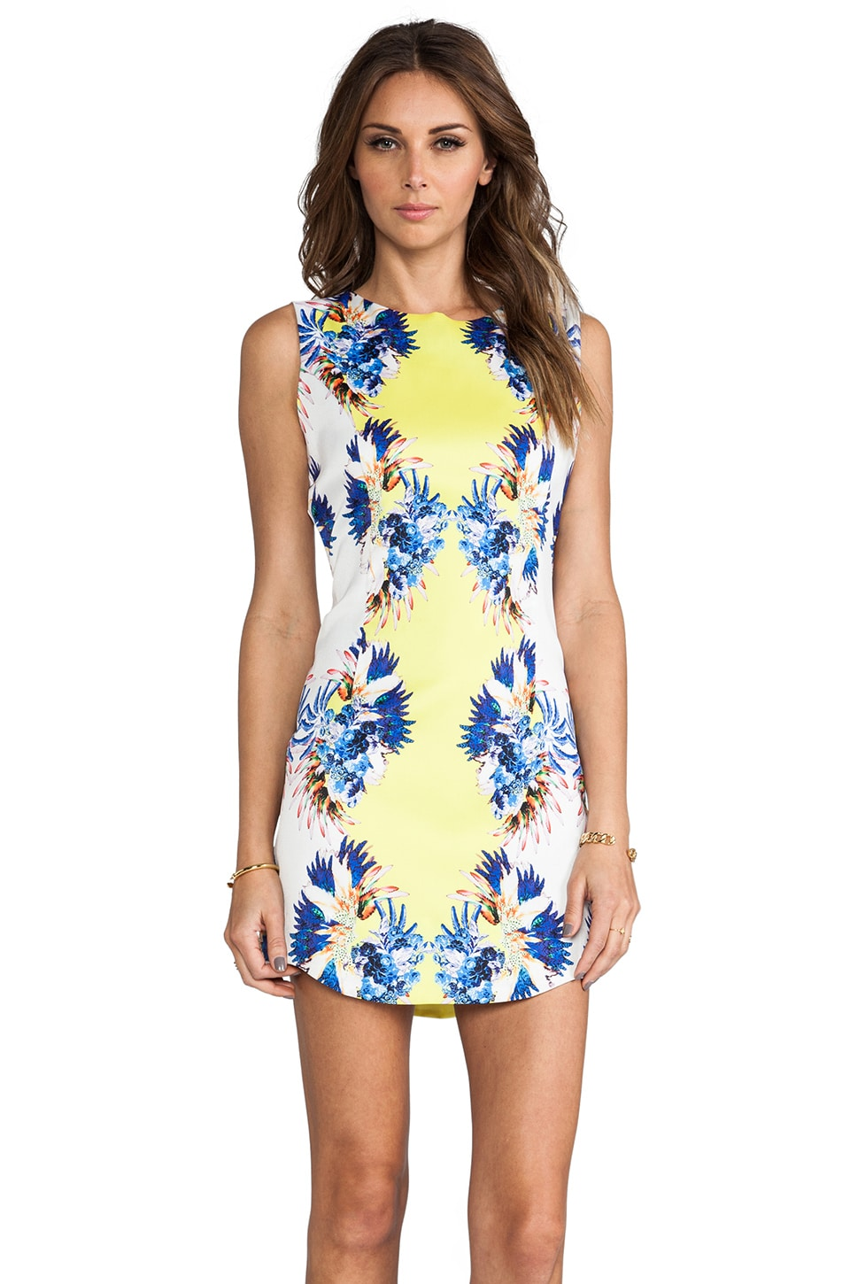 BLAQUE LABEL Floral Print Dress in Yellow