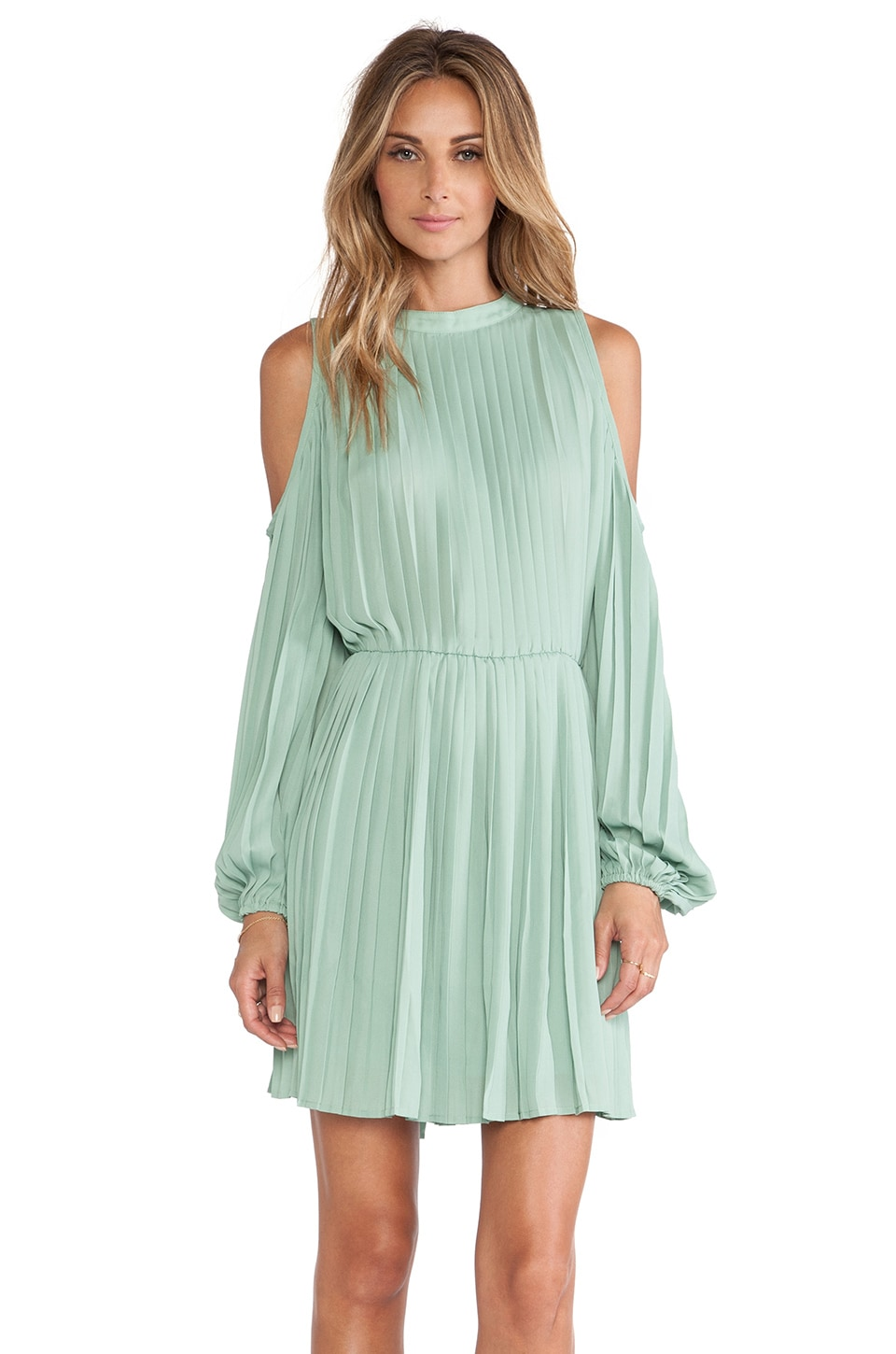 BLAQUE LABEL Cold Shoulder Dress in Seafoam
