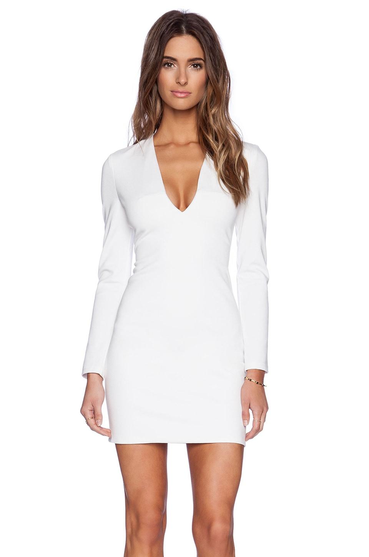 BLAQUE LABEL Long Sleeve Mini Dress in Ivory
