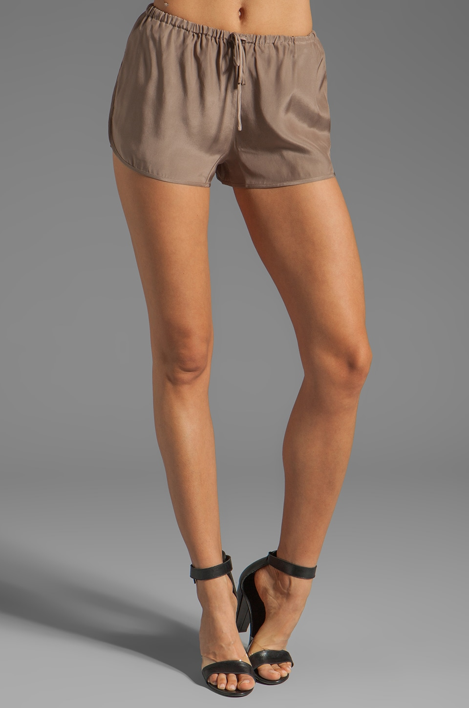 BLAQUE LABEL Silk Shorts in Coffee