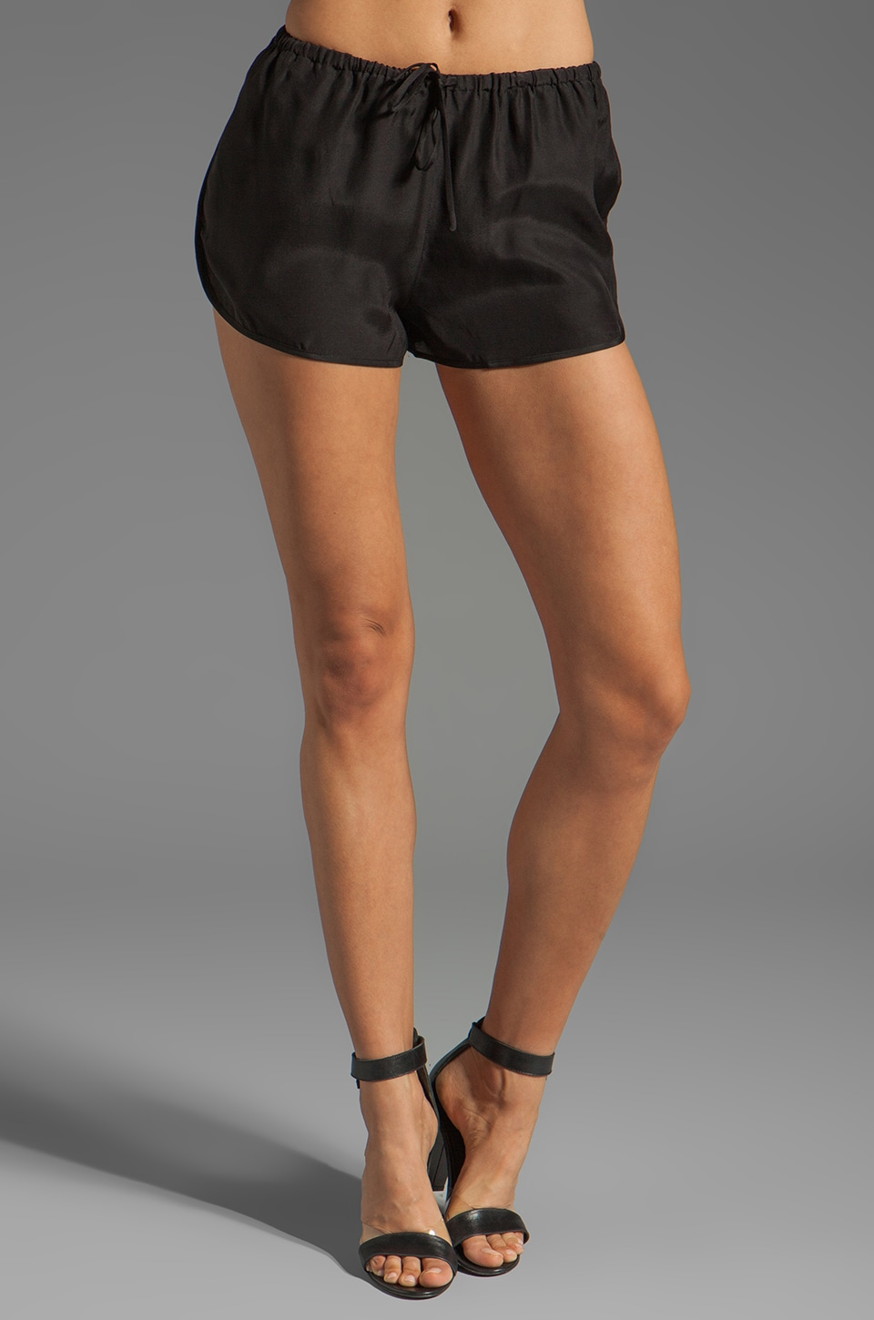 BLAQUE LABEL Silk Shorts in Black