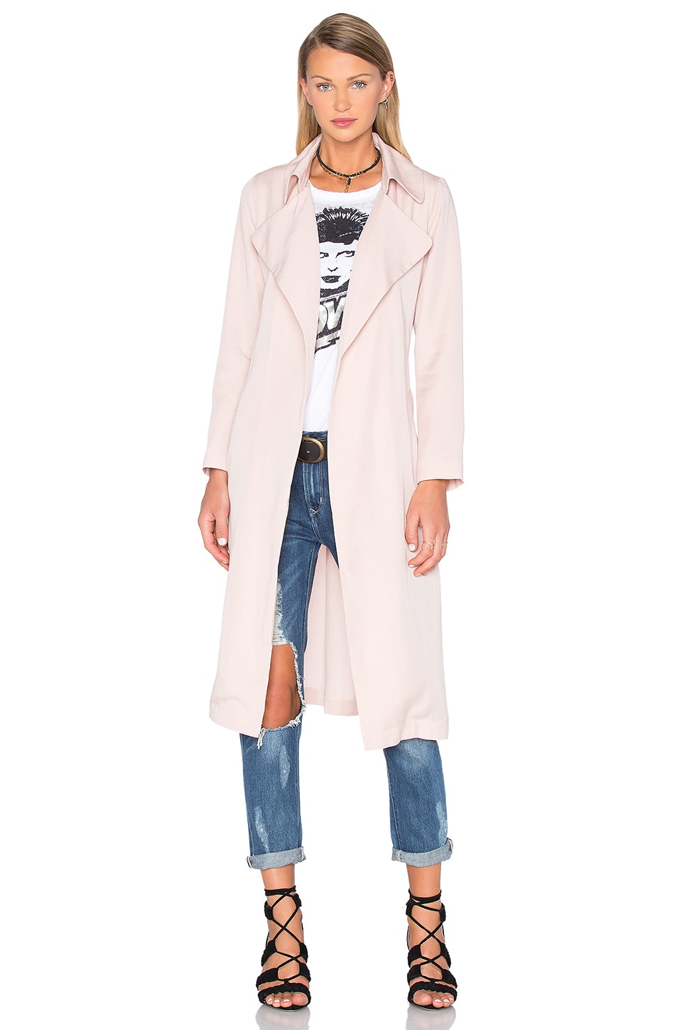 BLAQUE LABEL Duster Coat in Nude
