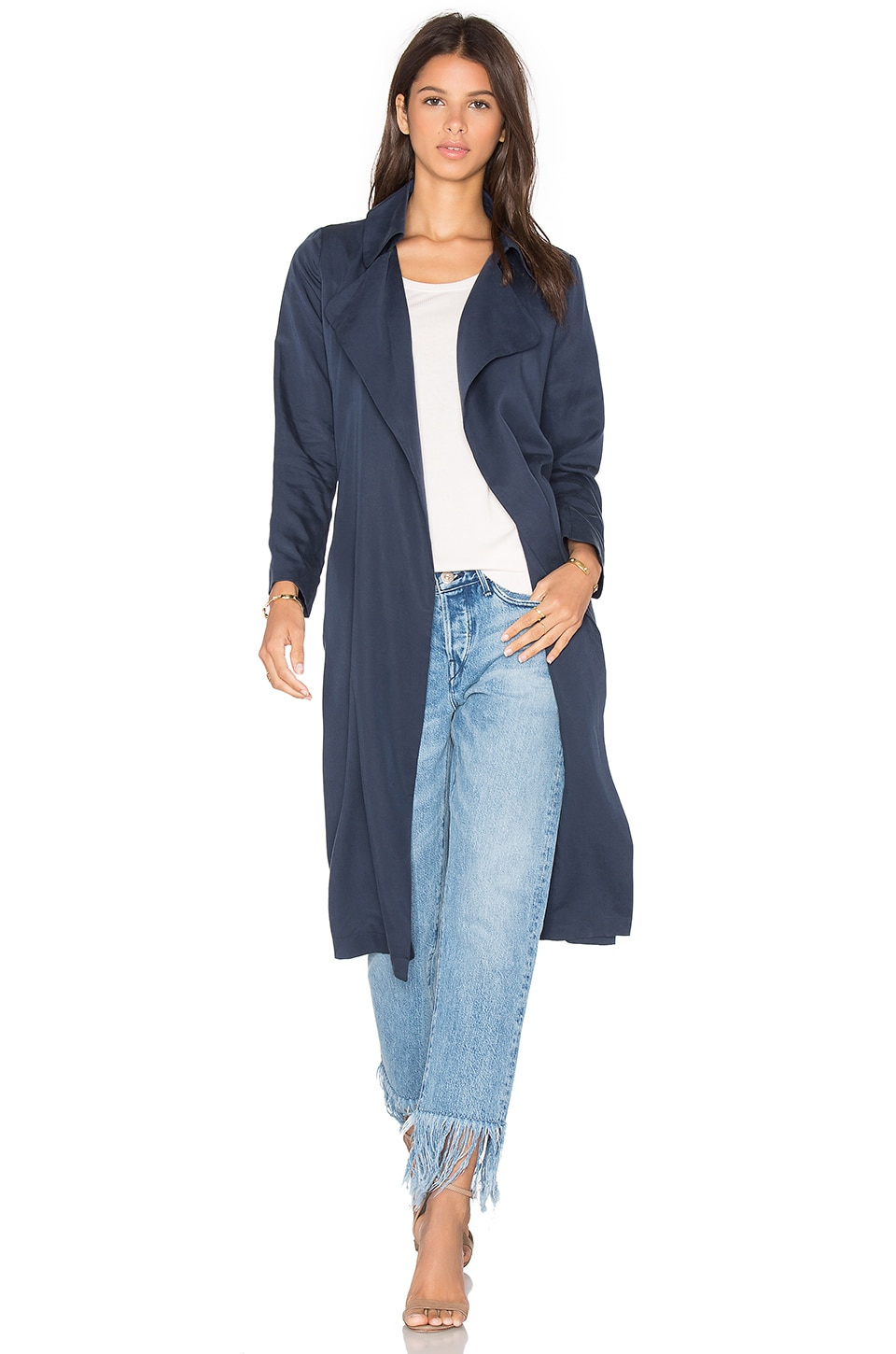 BLAQUE LABEL Duster Coat in Dark Denim