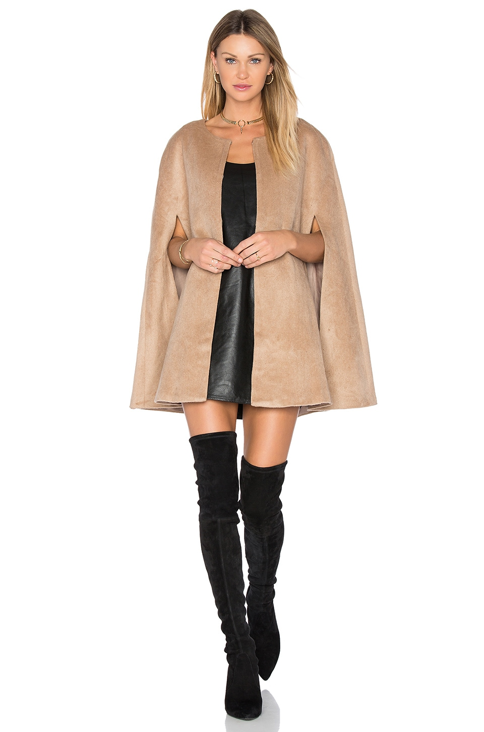 BLAQUE LABEL Wool Cape in Tan