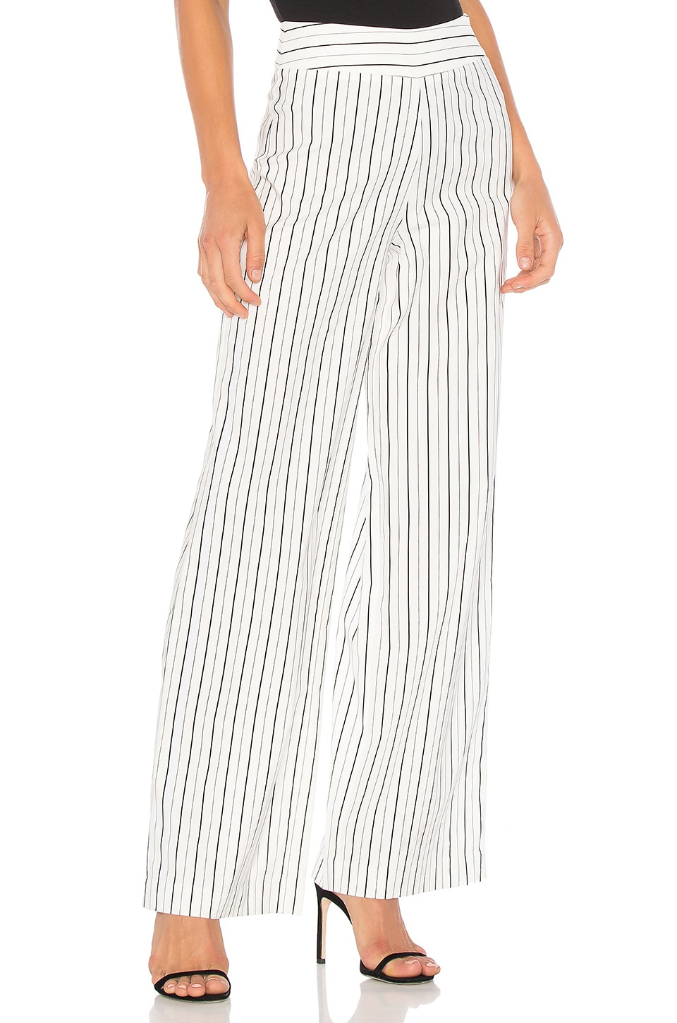 Striped Wide Leg Pant by Blaque Label