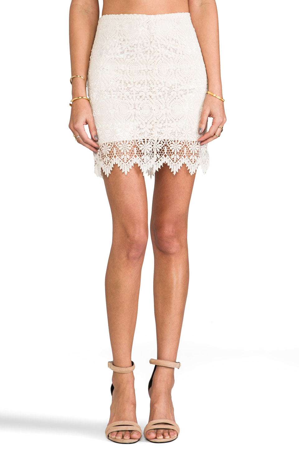 BLAQUE LABEL Lace Skirt in Cream