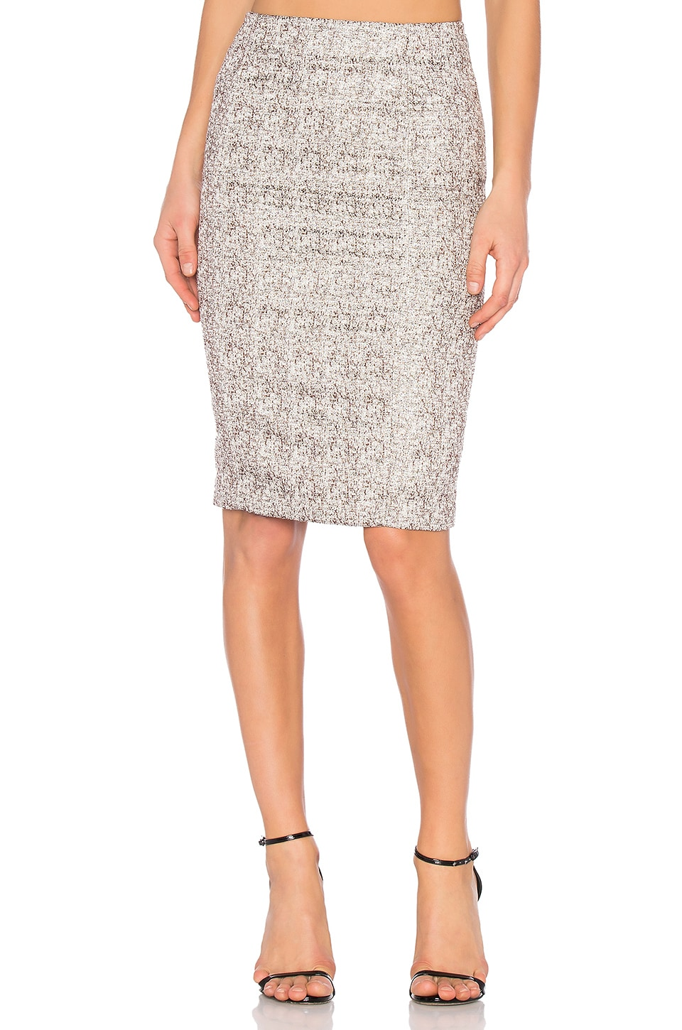 BLAQUE LABEL Pencil Skirt in Brown